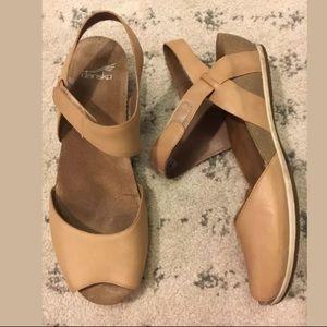 Dansko Vera peep toe sandals wedge